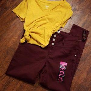 High waisted stacked waist pants
